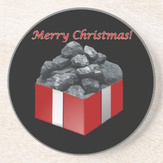 Frohe Weihnacht-Kohlen-Geschenk Untersatz