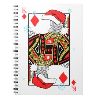 Frohe Weihnacht-König der Diamanten - addieren Sie Notizblock