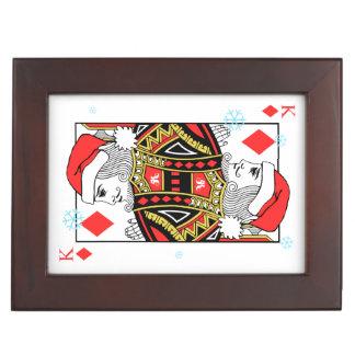 Frohe Weihnacht-König der Diamanten Erinnerungsdose