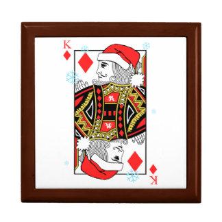 Frohe Weihnacht-König der Diamanten Schmuckschachtel