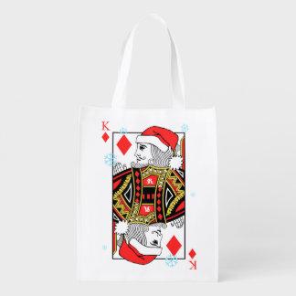 Frohe Weihnacht-König der Diamanten Wiederverwendbare Einkaufstasche