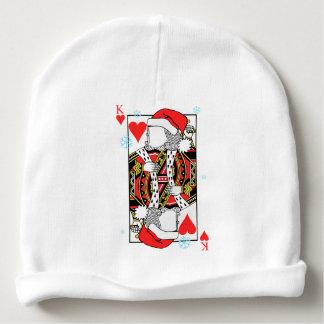 Frohe Weihnacht-König der Herzen - addieren Sie Babymütze