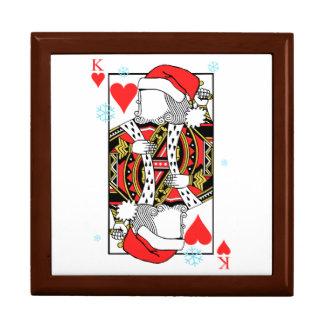 Frohe Weihnacht-König der Herzen - addieren Sie Geschenkbox