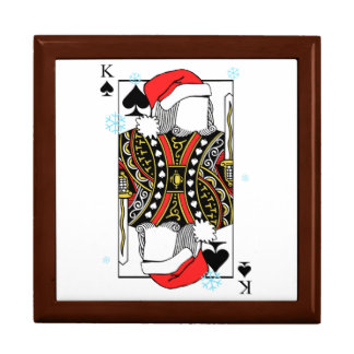 Frohe Weihnacht-König der Spaten - addieren Sie Geschenkbox