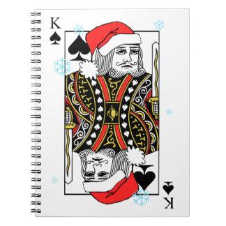 Frohe Weihnacht-König der Spaten Spiral Notizblock