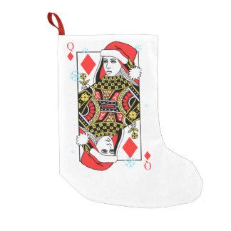 Frohe Weihnacht-Königin der Diamanten Kleiner Weihnachtsstrumpf
