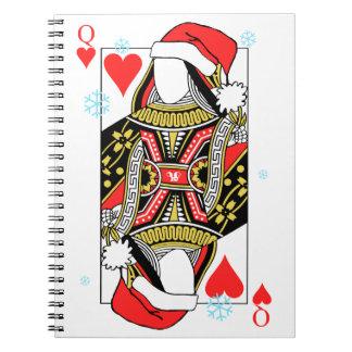Frohe Weihnacht-Königin der Herzen - addieren Sie Notizblock
