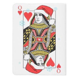Frohe Weihnacht-Königin der Herzen Extra Großes Moleskine Notizbuch