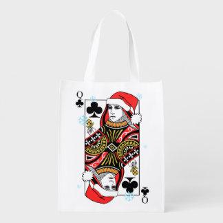 Frohe Weihnacht-Königin der Vereine Wiederverwendbare Einkaufstasche