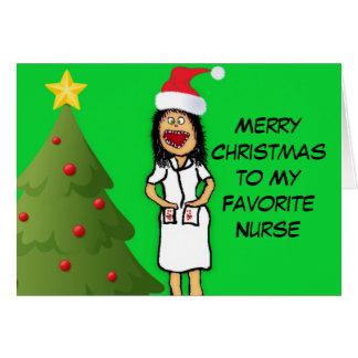 Frohe Weihnacht-Krankenschwester Karte