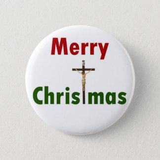Frohe Weihnacht-Kruzifix Runder Button 5,1 Cm