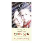Frohe Weihnacht-kundenspezifische Foto-Karte Photokarte