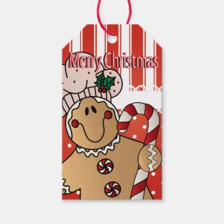 Frohe Weihnacht-Lebkuchen-Mann Geschenkanhänger