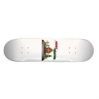 Frohe Weihnacht-Lebkuchen-Szene 18,7 Cm Mini Skateboard Deck