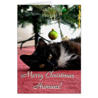 Frohe Weihnacht-Menschen! Karte