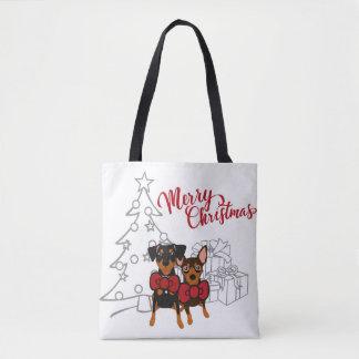 Frohe Weihnacht-minimale Tasche
