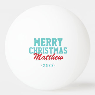 Frohe Weihnacht-Monogramm-FotoPing Pong Bälle Tischtennis Ball