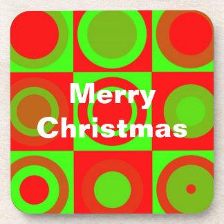 Frohe Weihnacht-Muster-Korken-Untersetzer
