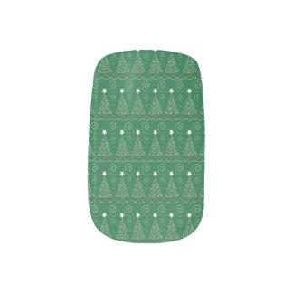 Frohe Weihnacht-Nagel-Verpackungen Minx Nagelkunst