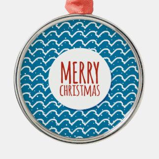 Frohe Weihnacht-nahtlose Silbernes Ornament