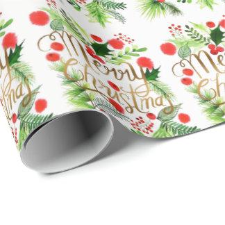 Frohe Weihnacht-Packpapier Geschenkpapier