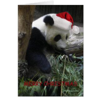 Frohe Weihnacht-Panda-guten Rutsch ins Neue Jahr! Grußkarte