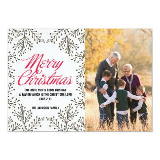 Frohe Weihnacht-Papier-Foto-Karte Karte
