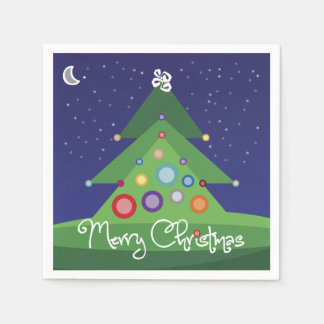 Frohe Weihnacht-Papierservietten Serviette