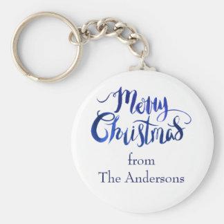 Frohe Weihnacht-personalisierter Feiertag Keychain Schlüsselanhänger