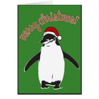Frohe Weihnacht-Pinguin Notecard Karte