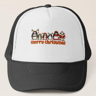 Frohe Weihnacht-Pinguine Truckerkappe