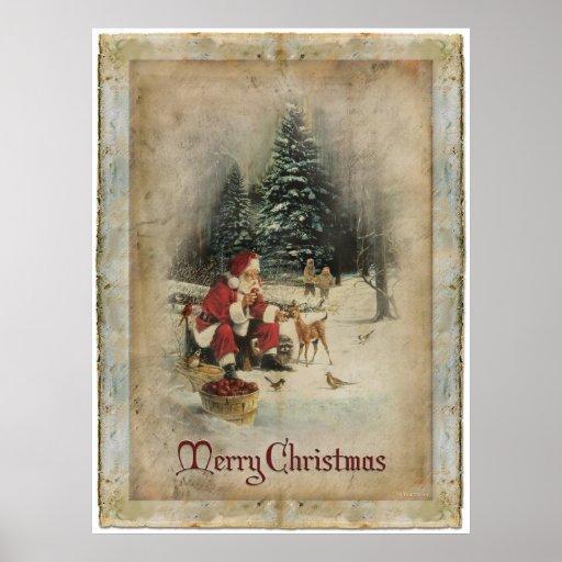 Frohe Weihnacht-Plakat