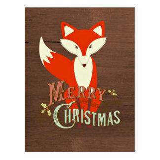 Frohe Weihnacht-Postkarte BrownFox Postkarte