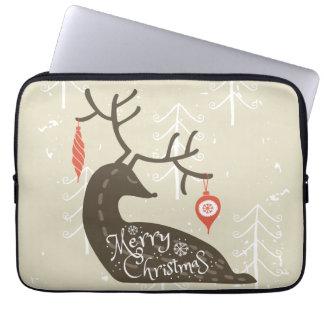 Frohe Weihnacht-Ren gemütlich Laptop Sleeve