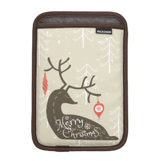 Frohe Weihnacht-Ren gemütlich Sleeve Für iPad Mini