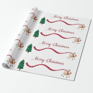 Frohe Weihnacht-Ren Geschenkpapier
