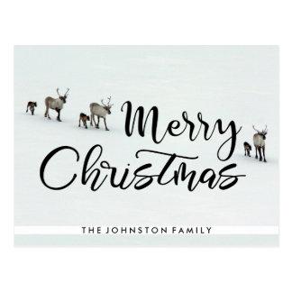 Frohe Weihnacht-Ren Postkarte