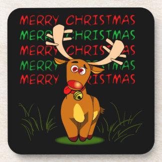 Frohe Weihnacht-Ren-Untersetzer