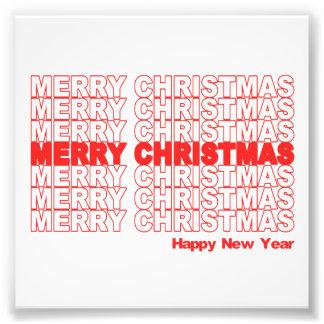 Frohe Weihnacht-Retro Feiertag Photographischer Druck