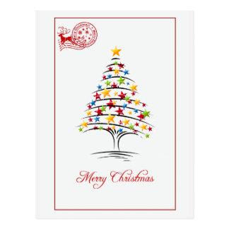 Frohe Weihnacht-Retro Postkarte