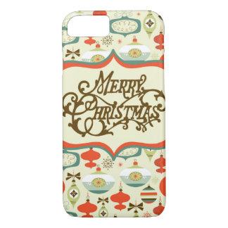 Frohe Weihnacht-Retro Verzierungs-Entwurf iPhone 7 Hülle