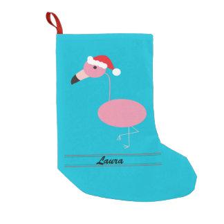 Frohe Weihnacht-Rosa-Flamingo mit Kleiner Weihnachtsstrumpf
