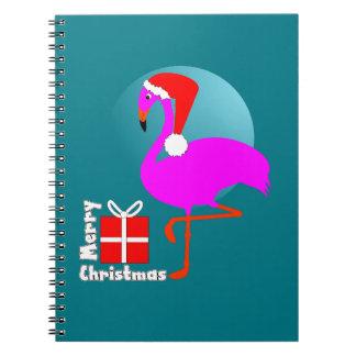 Frohe Weihnacht-Rosa-Flamingo-niedliche Trendy Notizblock