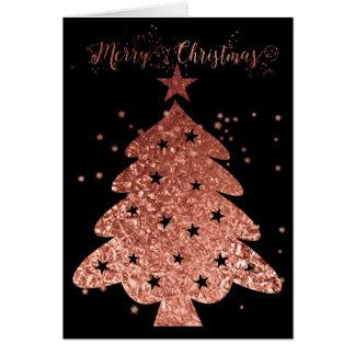 Frohe Weihnacht-Rosa und schwarzer Zauber Karte