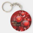 Frohe Weihnacht-Rot-Flitter Schlüsselanhänger