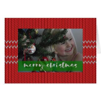 Frohe Weihnacht-Rot-Strickjacke Karte
