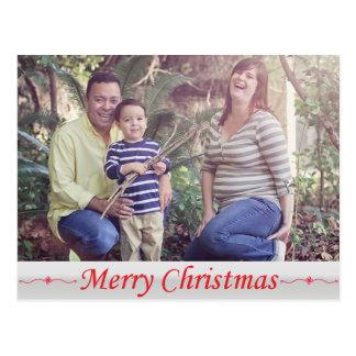 Frohe Weihnacht-rote Beschriftungs-Postkarte Postkarte