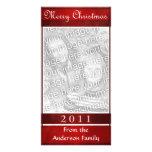 Frohe Weihnacht-rote elegante einfache Gewohnheit Fotokarten