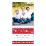 Frohe Weihnacht-rote weiße Streifen Bildkarten