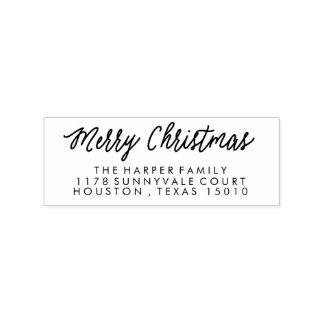 Frohe Weihnacht-Rücksendeadresse-Briefmarke Gummistempel